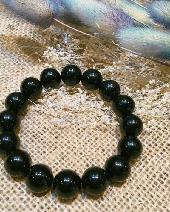 BLACK TOURMALINE BRACELET 12MM