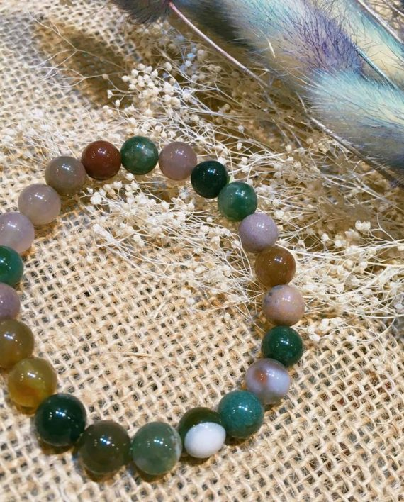 BLOODSTONE BRACELET 8MM
